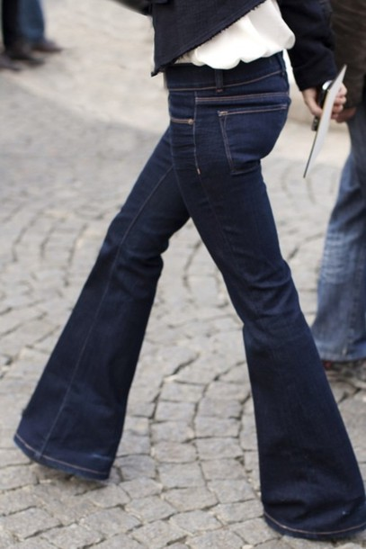 Jeans: flare jeans, bell bottoms, wide leg, dark jeans, dark wash ...