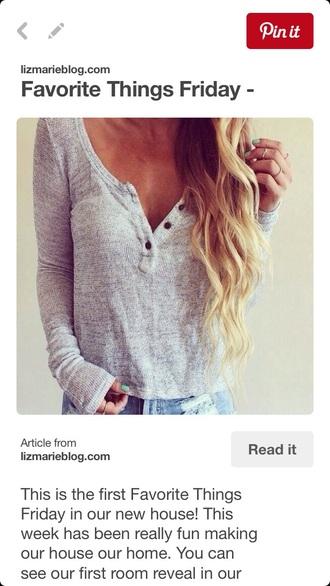 top gray grey grey top shirt shorts grey t-shirt cute grey top cute top cute outfits outfit style long sleeves