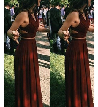 dress red dress prom dress bridesmaid