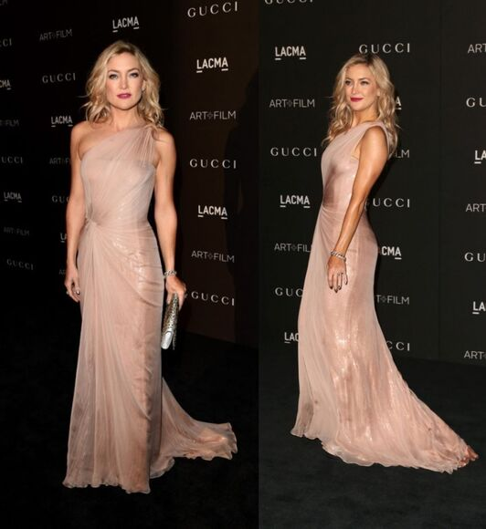 kate hudson dress prom dress gown nude