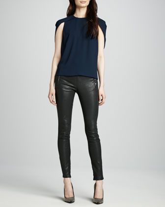 J Brand Ready to Wear Cowley Top & Morgan Leather Pants - Neiman Marcus
