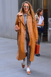 jacket,fall outfits,blake lively,blazer,suit,pants