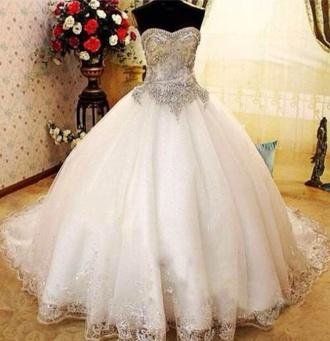 wedding dress ballgown wedding dress heavy beaded lace trim beautiful ball gowns princess wedding dresses