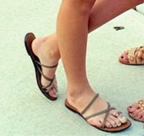 shoes thong sandals sandals flat sandles