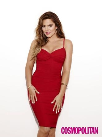 khloe kardashian red dress bodycon dress