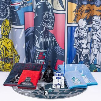 home accessory star wars shower curtain bathroom towel