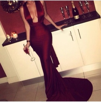 dress gown red dress sexy classy dress fabulous wine red beautiful holiday shopping burgundy dress prom dress sexy dress bodycon dress mermaid prom dress prom silk satin