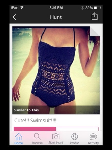 swimwear pretty patterned black