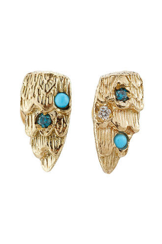 diamonds earrings gold earrings gold turquoise jewels