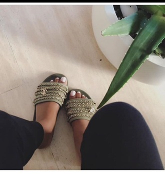 shoes chanel green