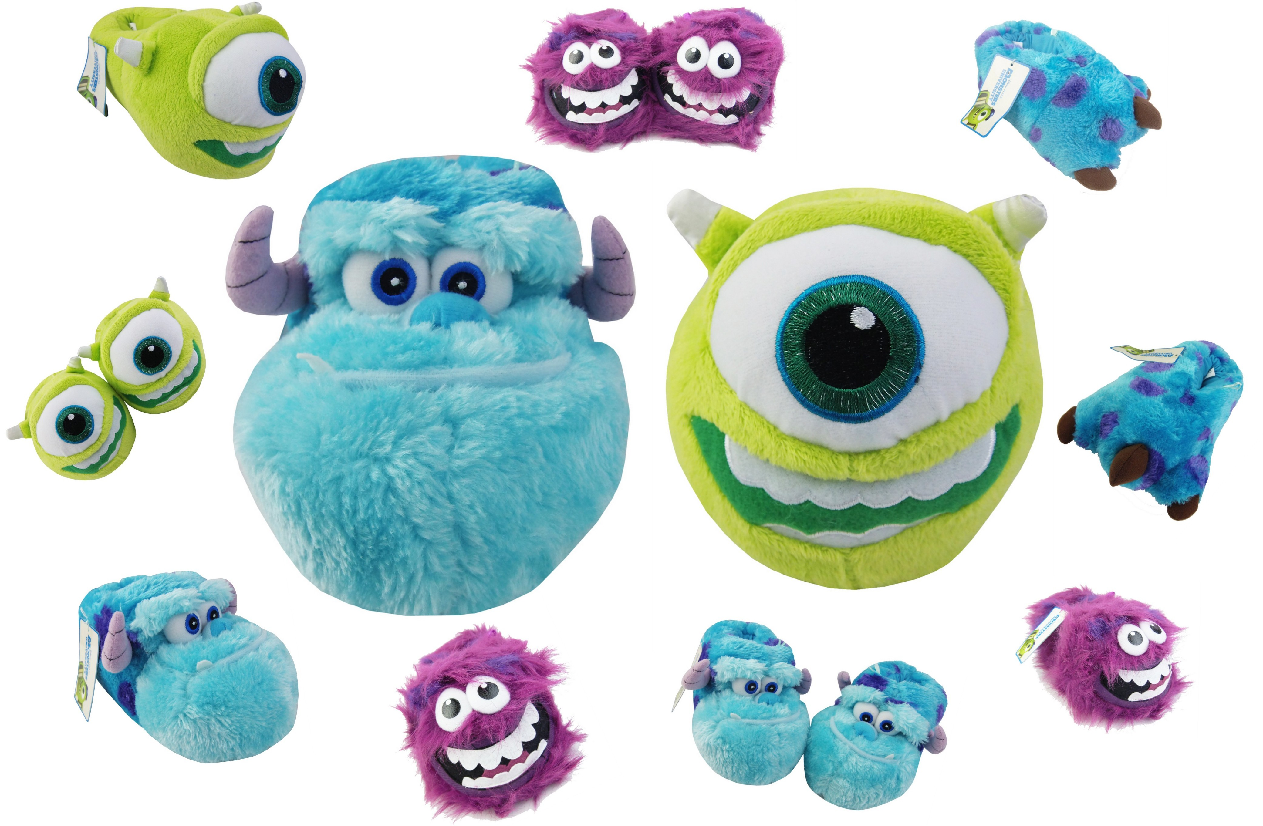a3b029c96cf Kids Boys Girls Slippers MONSTERS INC Gift Novelty Slippers Sz Size ...