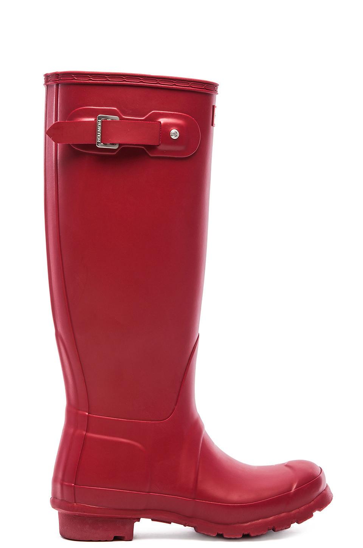 Hunter Original Tall Rain Boot in red