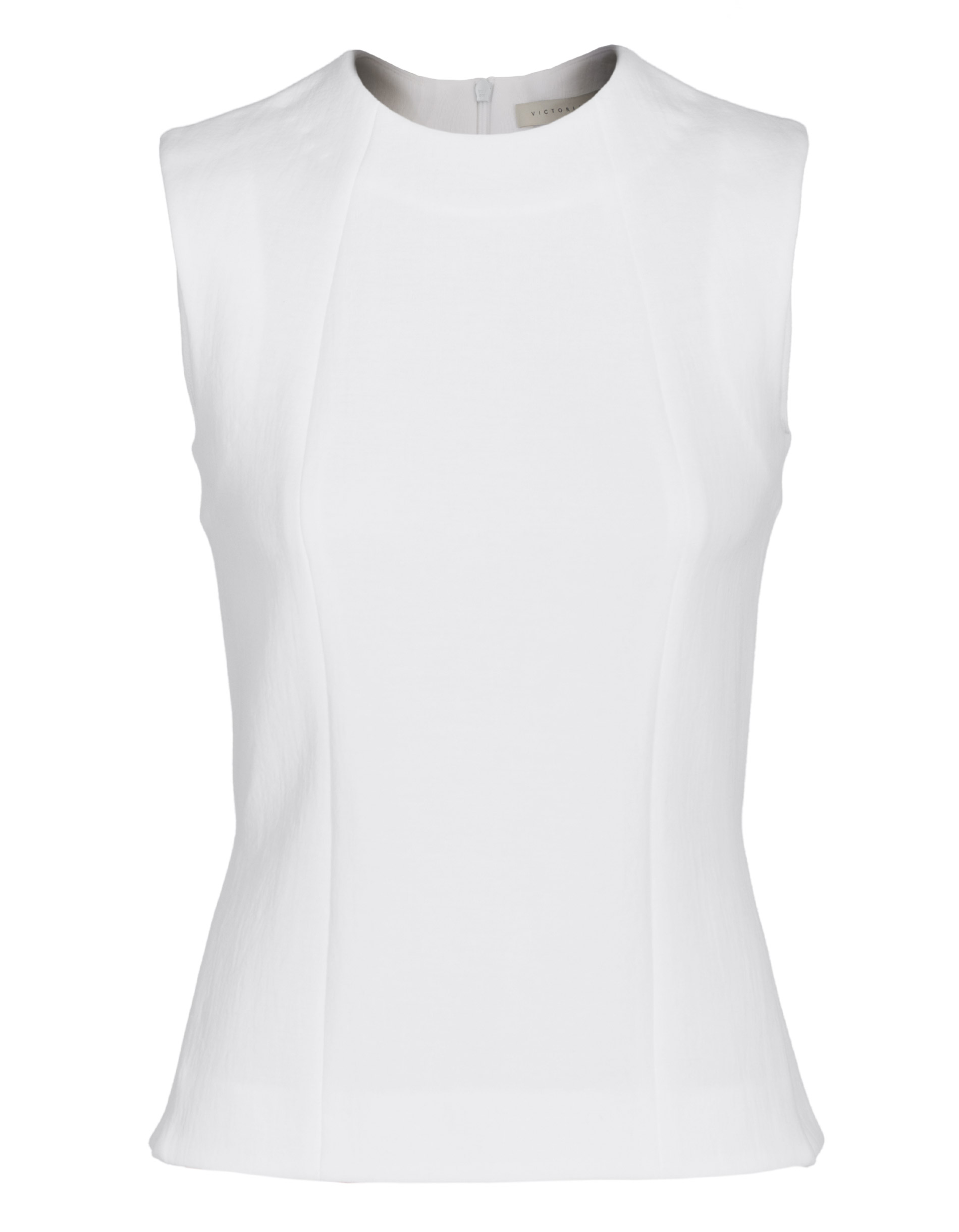 Victoria beckham  side split shell white ärmelloses top