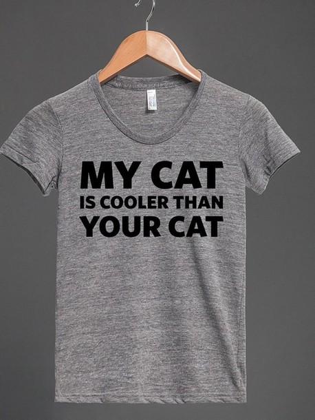 shirt cats cool nice style cat shirt t-shirt faboulous