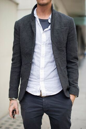 jacket mens jacket menswear clothes mens blazer mens suit grey jacket sweater grey coat