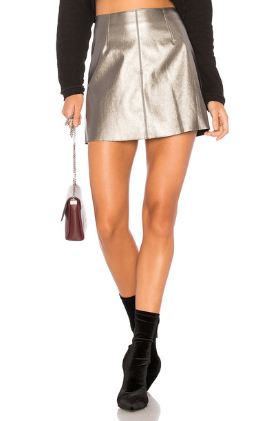 Bailey 44 skirt metallic silver