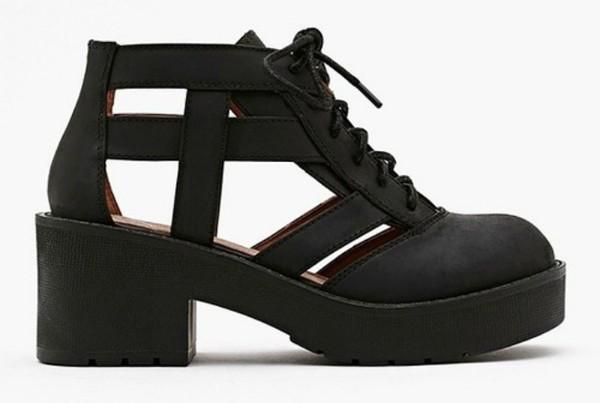 shoes soft grunge shoes black grunge flat black shoes black boots platform boots