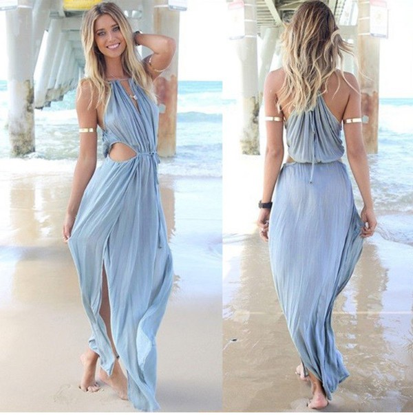 Online Shop New Fashion 2015 women summer dress sexy long beach ...