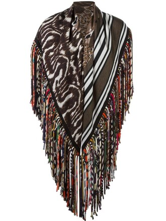 women scarf print silk wool