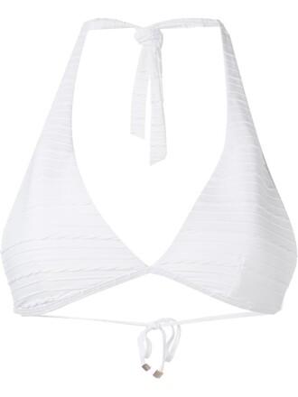 bikini bikini top white swimwear