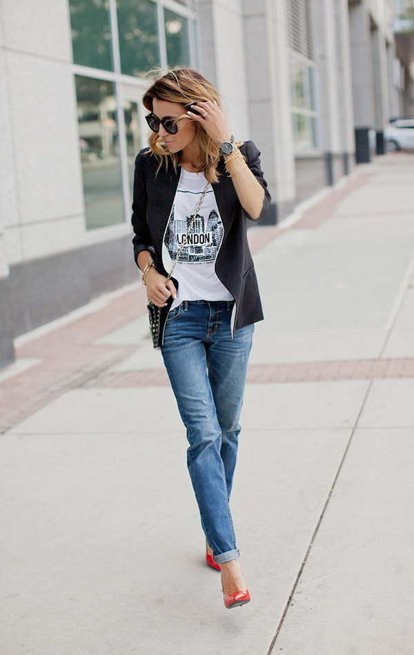 hello fashion blogger t-shirt jacket