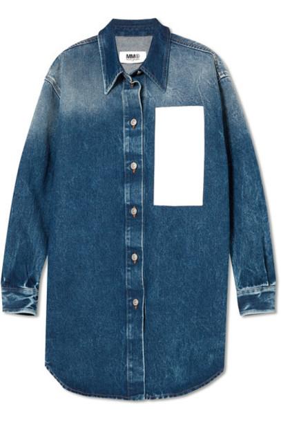 Mm6 Maison Margiela shirt denim shirt denim dark top