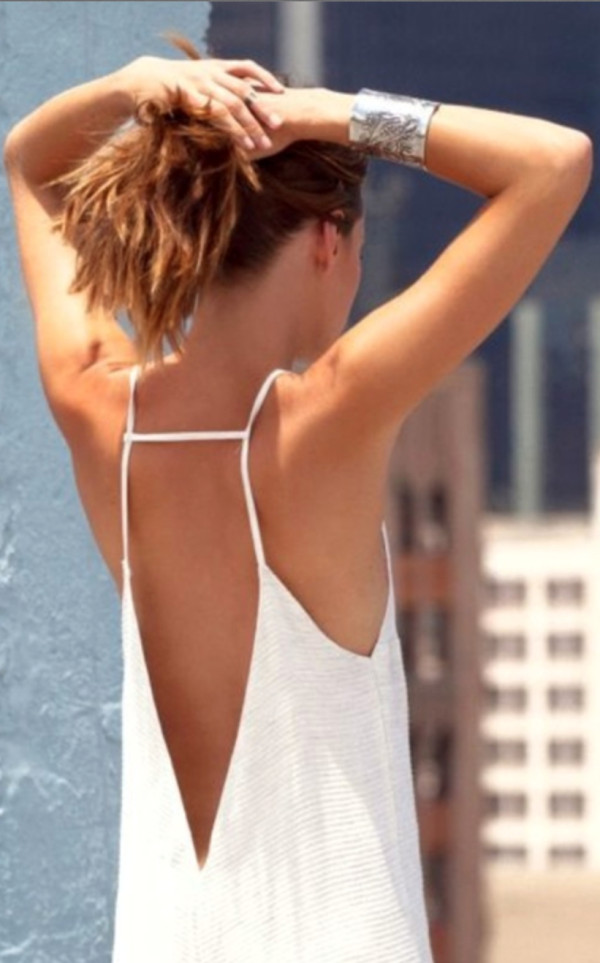 shirt backless sexy tank top cute white summer tunic
