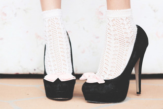 shoes socks and heels high heels socks transparent cute white