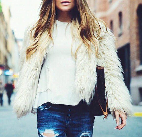 coat jacket fur faux fur jacket fall outfits fall sweater style