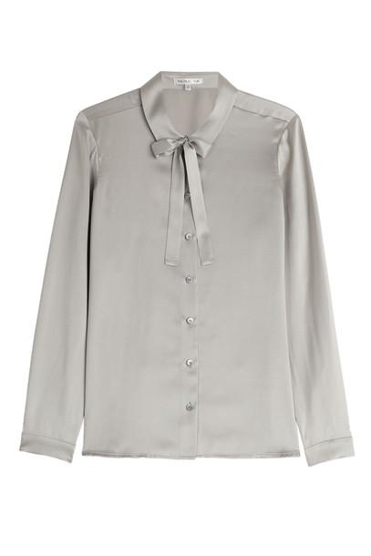 9e6076a96b6d20 Paule Ka Silk Blouse in silver - Wheretoget
