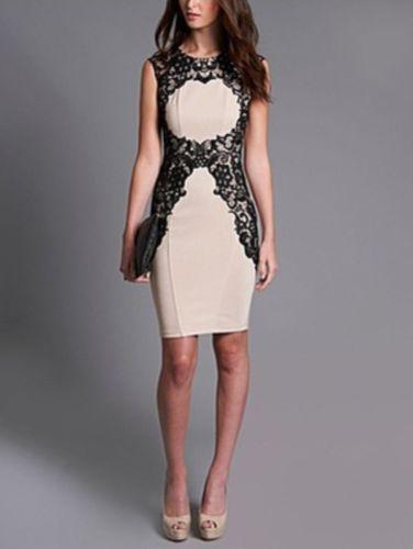 BNWT Lipsy @ Next, Wax Lace Silhouette Shift Dress. Nude/Black. Sizes 6,10,16,18 | eBay