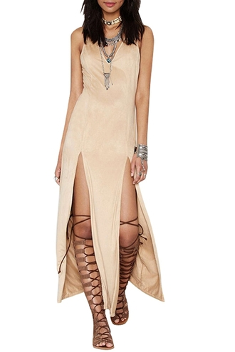 dress zaful beige beige dress slit dress slit silk silk dress