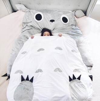 home accessory sleep blanket totoro i love sleep bedroom blanket