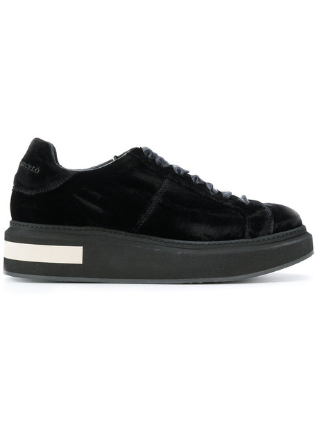 Manuel Barceló women sneakers leather black shoes