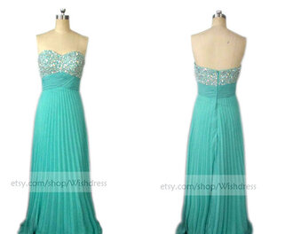 pleated prom dress blue prom dress blue formal dress turquoise formal dresses empire prom dress prom dress evening dress