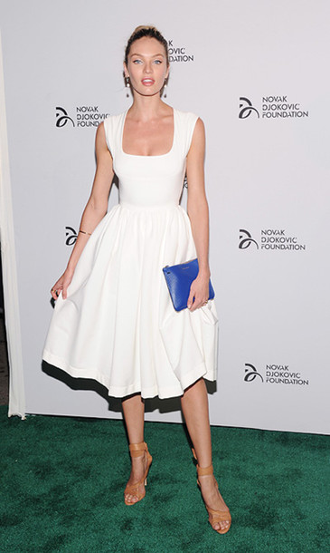 Dress: white, white dress, novak djokovic foundation new york ...
