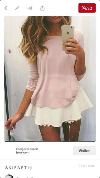 skirt scalloped edge white skirt short flowy