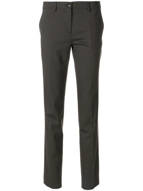 ETRO women spandex wool brown pants