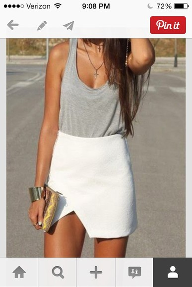 skirt white skirt summer skirt