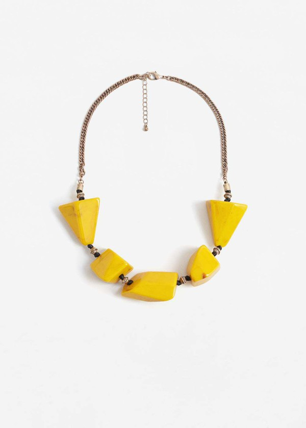 jewels necklace yellow