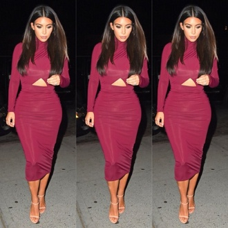 dress kim kardashian bodycon dress fashion red lime sunday
