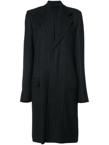 coat women spandex cotton black