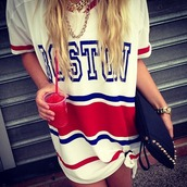 dress,jersey,t-shirt,bag,blouse,jersey dress,boston