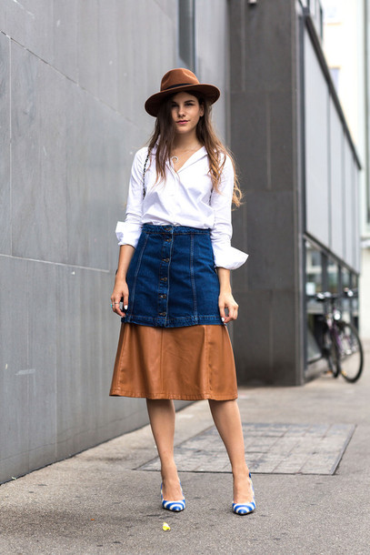 Shirt: the fashion fraction, blogger, skirt, hat, button up skirt ...