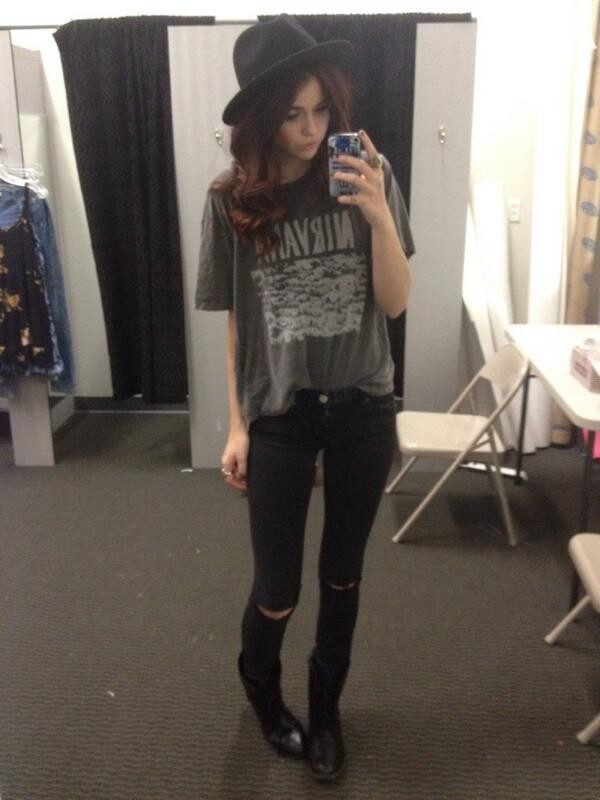 shirt black acacia brinley acacia brinley hipster goth hipster ripped jeans nirvana jeans pants black ripped jeans hat grunge denim vintage old school skinny pants t-shirt band teashirt nirvana t-shirt grunge t-shirt music band t-shirt grey grey t-shirt grunge t-shirt