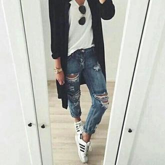 jeans ripped jeans boyfriend jeans denim