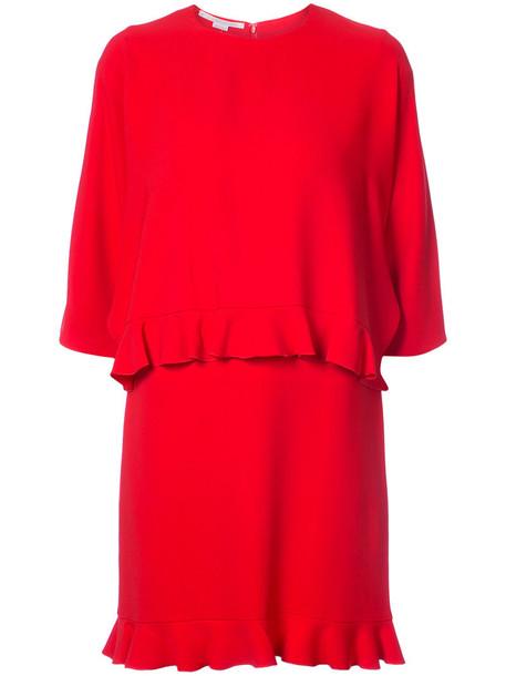 dress mini women spandex red