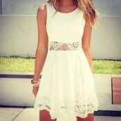 dress,white dress,lace dress,lace,white,short dress,summer dress,festival,flower crown,hair accessory,short wedding dress,bridesmaid,blonde hair,wedding clothes,white lace dress,wedding hairstyles,skater dress,laced dress,summer,tumblr,flowy dress,white dress lace,cute,tumblr dress,spring dress,fashion,short,earphones,white dress with lace,slim,relaxed,sleeveless,cut-out,this same dress,outfitsforsummer,littlewhitedress,spring,spring outfits,back to school,cute dress,sleevless prom dresses,prom dress,prom,outfit,boho dress,beautiful halo,boho,style,girly