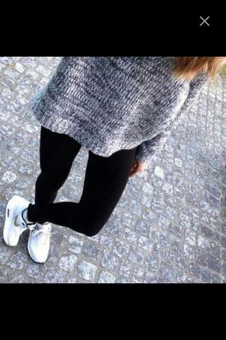 sweater air jordan sneakers jeans leggings cozy oversized sweater black jeans knitwear