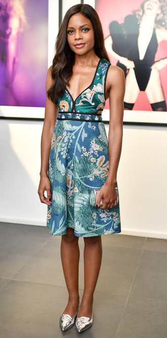 dress summer dress naomie harris flats ballet flats